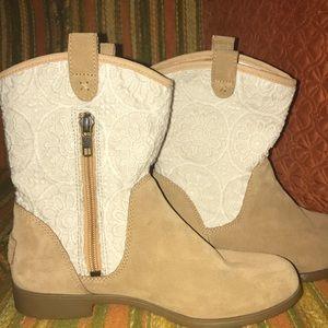 f7a7b47dacc 💞Girl Dahlia Lace Suede western boots 👢